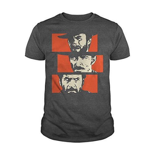 Men's The Good, The Bad and The Ugly T-Shirt (XL, Dark Heather)