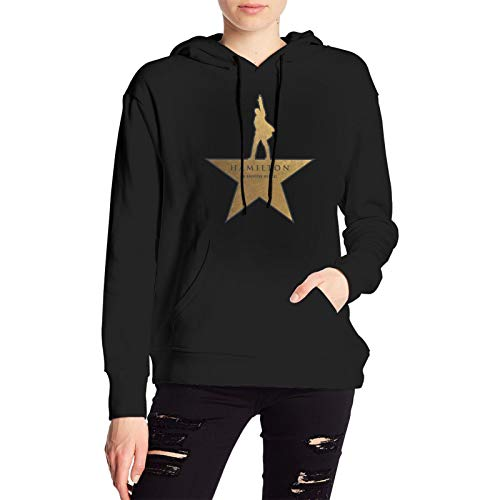 Hamilton The Musical Womens Pullover Hoodie Coat Hooded Black