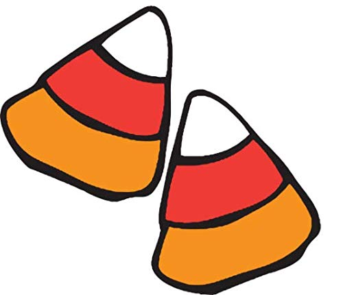 Halloween Candy Corn Car Magnetic Decal for Locker or Fridge, Pack of 2, 4 x 6 Inches