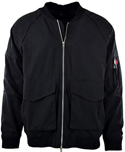 Mens Premium Quality Bomber Flight Jacket (M, 013-Black)