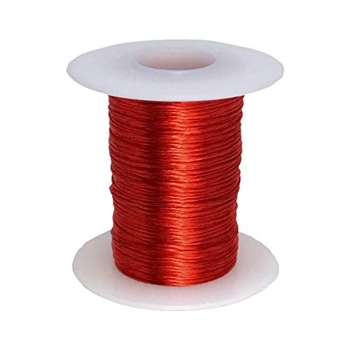 Litz Wire, 14 AWG Unserved Single Build, 5/52/38 Stranding, 4 oz Spool, Ideal for ~100 kHz Applications