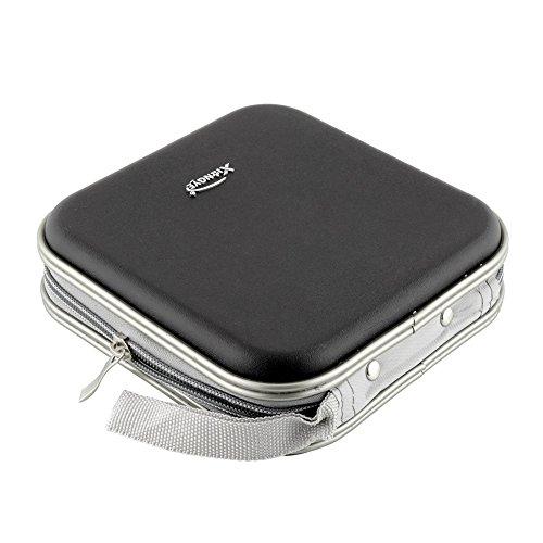 New Black 40 Disc CD DVD DJ Storage Organizer Hard Wallet Holder Album Bag Hard Box Double Side Black CD Bag