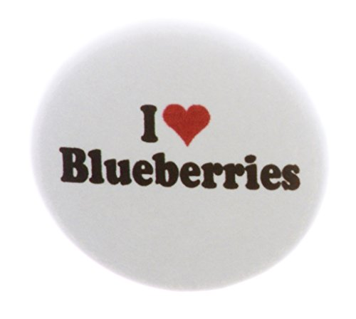 A&T Designs I love Blueberries 2.25' Keychain Blueberry Fruit Food