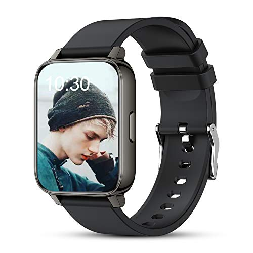 AllCall Smart Watch Fitness Tracker for Men Women, 1.69' Full Touch Screen with Heart Rate Blood Oxygen Monitor, Sleep Tracker, Step Counter, Message Call Reminder, Smartwatch for Android Phones iOS