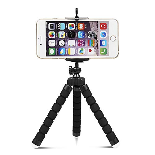 Shuzhu Flexible Tripod Mini Universal Octopus Leg Style Portable and Adjustable Tripod Stand with Clip Bracket Mount Holder for Mobile Phone, Cellphone, Smartphone, Digital Camera