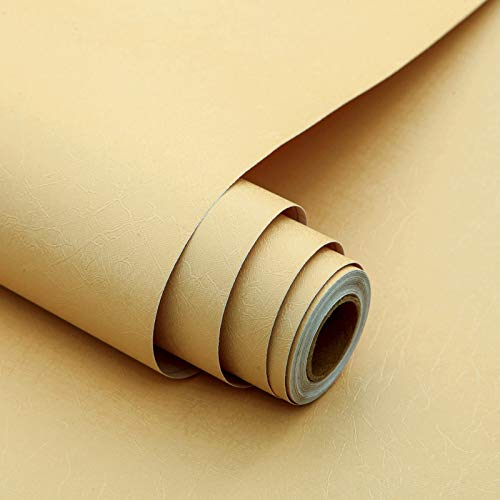 236'x17.7' Wallpaper Stick and Peel Embossed Removable Self Adhesive Wallpaper Stick and Peel Wallpaper Beige Contact Paper Vinyl Film Wall Covering Home Decoration Shelf Drawer Line