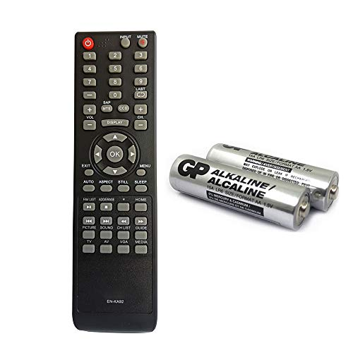 EN-KA92 Replacement TV Remote for Hisense tv 40H3E 32H3E 40H3C 32H3C 40H3EC 40H3B 32H3B2 32H3B1 32D37 32D20 with GP Alkaline 2 pcs Batteries