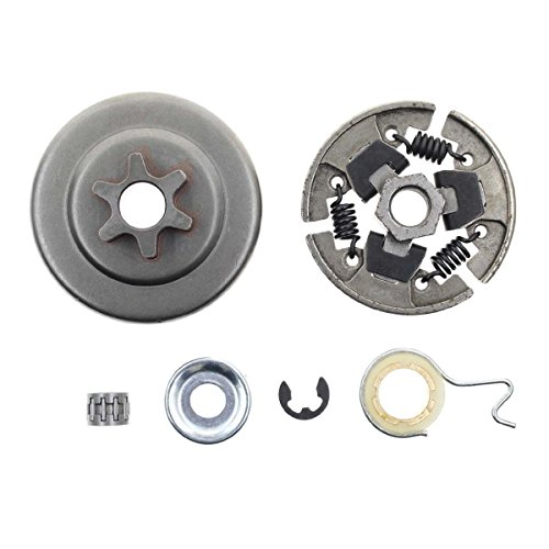 Carbhub Sprocket Clutch 3/8' for Stihl 017 018 021 023 025 MS170 MS180 MS210 MS230 MS250 Chainsaw with Washer E-Clip Kit Replace 1123 640 2003, 1123 640 2073