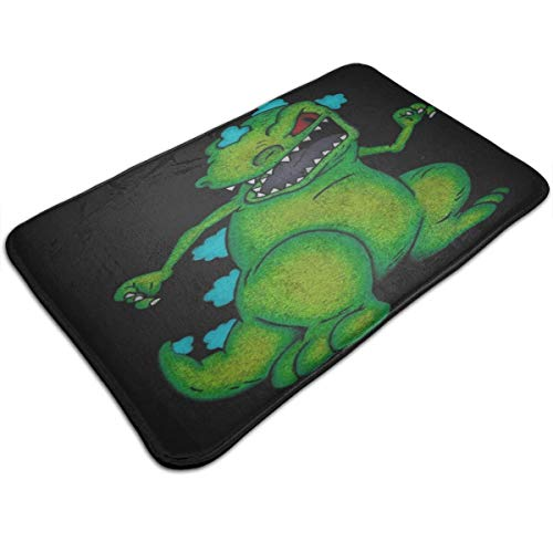 Reptar Rugrats Pencil Drawing Dinosaur T-Rex Nickelodeon Non Slip Bath Mat Door Floor Bathroom Rugs for Home Indoor Outdoor Bathroom Kitchen Welcome Mats 19.531.5 Inch