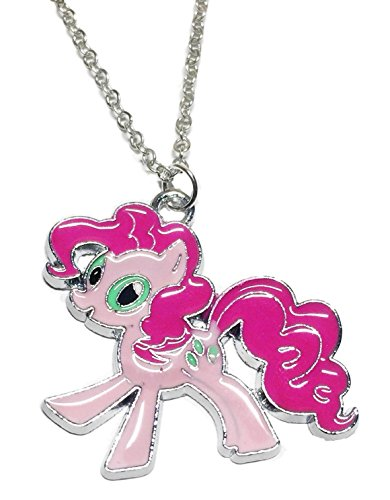 Main Street 24/7 My Little Pony Pinkie Pie Character Enamel Filled Pendant Necklace