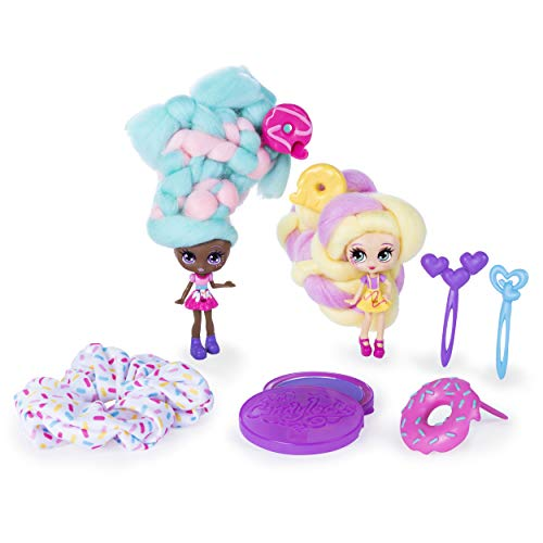 Candylocks BFF 2 Pack, 3-Inch Jilly Jelly & Donna Nut, Scented Collectible Dolls with Accessories