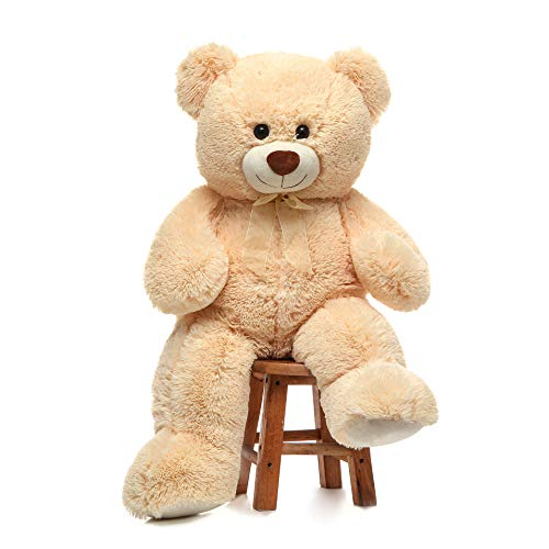 Toys Studio 36 inch Big Teddy Bear Cute Giant Stuffed Animals Soft Plush Bear for Girlfriend Kids, Beige