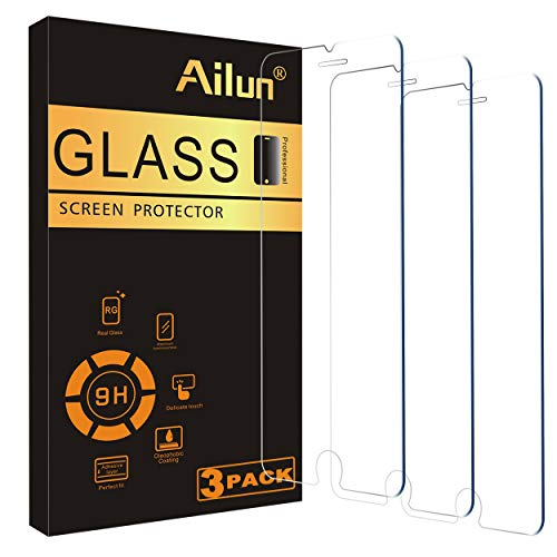 Ailun Screen Protector Compatible for iPhone 8 plus,7 Plus,6s Plus,6 Plus, 5.5 Inch 3Pack Case Friendly Tempered Glass