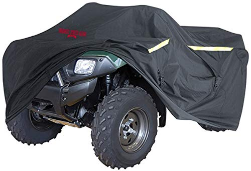 Heavy-Duty, Triple-Waterproofed 4 Wheeler Cover – ATV Cover Four Wheeler Accessories – Rip-Resistant, Night-Reflective ATV Covers w/ Advanced Waterproofing, Easy-Access Zipper and Triple Tie-Downs
