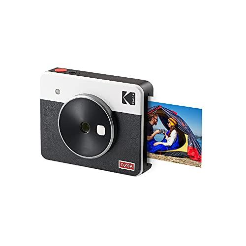"Kodak Mini Shot 3 Retro 3x3"" Portable Wireless Instant Camera & Photo Printer, Compatible with iOS, Android & Bluetooth, Real Photo HD 4Pass Technology & Laminated Finish, Premium Quality – White"