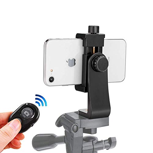 Phone Tripod Mount for iPhone Smartphone Holder Phone Adapter Clip with Remote for iPhone 12 11 Pro Xs Max XR X 8 7 6 6s Plus Samsung Nexus