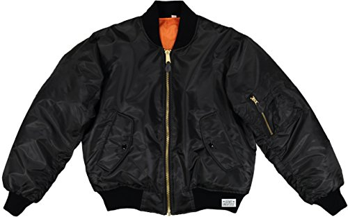 Army Universe MA-1 Air Force Military Bomber Flight Jacket Pin (Black, Size Large - Chest 41' - 45')