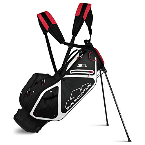 Sun Mountain New 2019, 3.5 LS Stand Bag, Black/White/Red