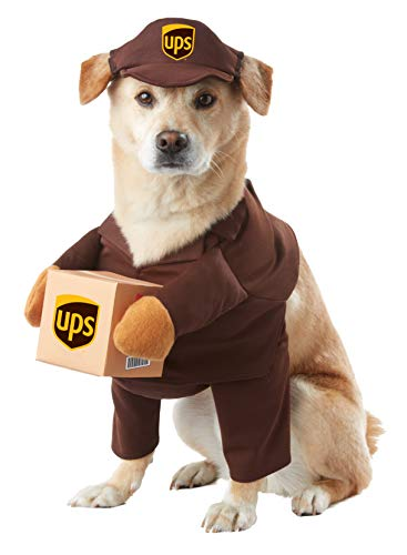 BROWN_UPS PAL DOG COSTUME, Extra Small