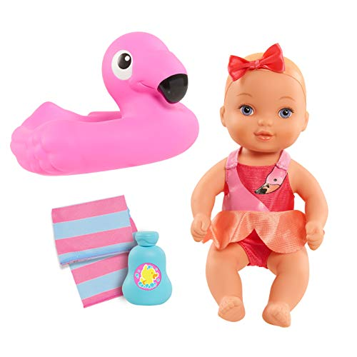 Waterbabies Doll Bathtime Fun, Flamingo, Water Filled Baby Doll Bath Toy and Accessories
