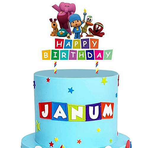 Pocoyo Cake Topper Birthday Cake Decorations Party Supplies for Children