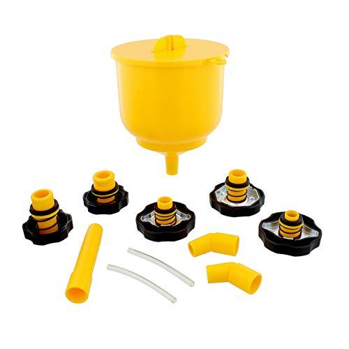 ABN Coolant Funnel Kit Radiator Spill Free Funnel Auto Coolant Flush Kit No Spill Funnel Radiator Funnel Fill Kit