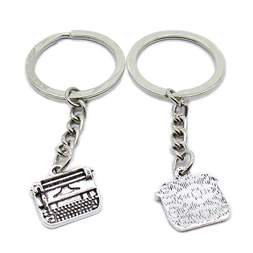 50 Pieces Keychains Keyrings Party Supplies Favors Wholesale AA4626 Typer Typewriter Key Chains Rings