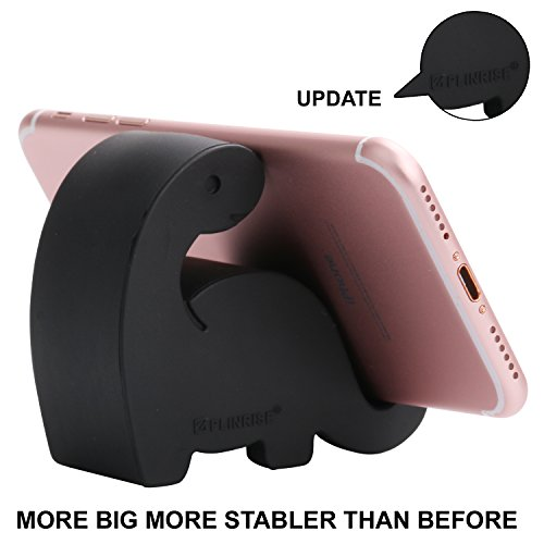 Plinrise Animal Desk Phone Stand, Update Dinosaur Silicone Office Phone Holder, Creative Phone Tablet Stand Mounts, Size:1.3' X 3.1' X 2.8' (Black -2)