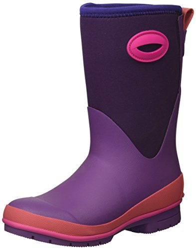 Western Chief Kid's Cold Rated Neoprene Memory Foam Snow Boot, Purple, 12 M US Little Kid