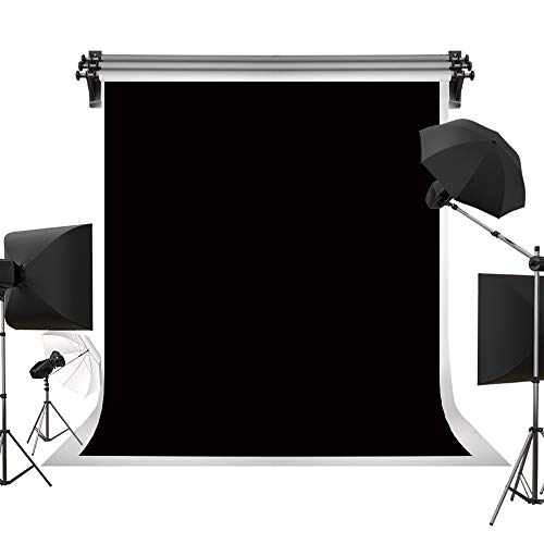 Kate 5ft×7ft Solid Black Backdrop Portrait Background for Photography Studio