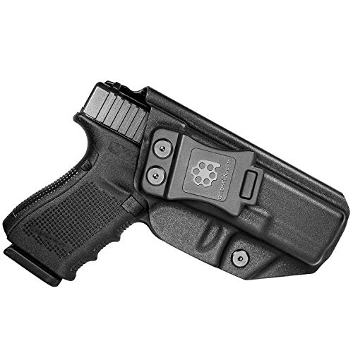 Amberide IWB KYDEX Holster Fit: Glock 19 19X 23 32 45 (Gen 1-5) | Inside Waistband | Adjustable Cant | US KYDEX Made (Black, Right Hand Draw (IWB))