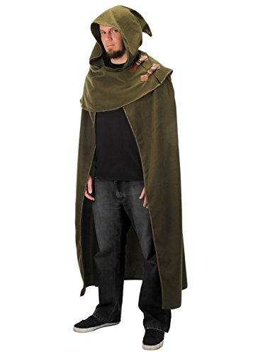 elope Elven Fantasy Cosplay Cloak in Green,Adult