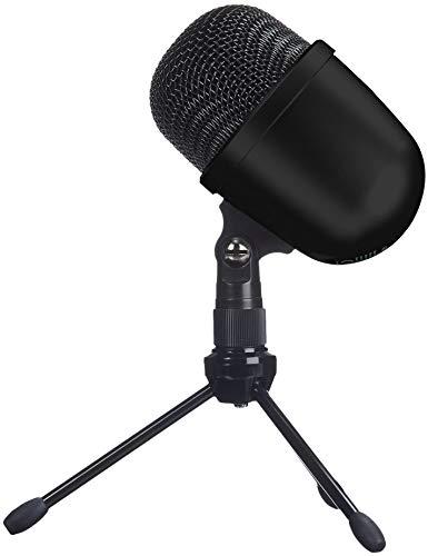 AmazonBasics Desktop Mini Condenser Microphone With Tripod - Black (Renewed)