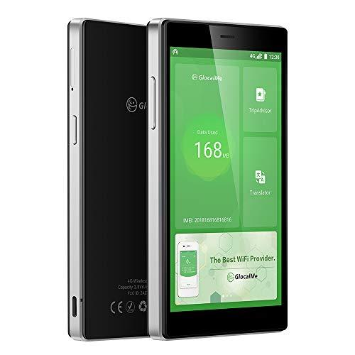 GlocalMe G4 Pro 4G LTE Mobile Hotspot, Worldwide WiFi Portable High Speed WiFi Hotspot with US 8GB & Global 1GB Data, SIMFREE, Pocket WiFi(Black)