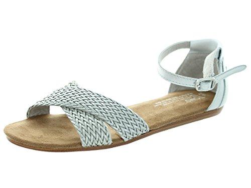 TOMS Women's Correa Sandals Silver Size 10