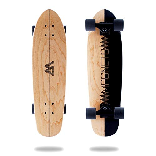 Magneto Mini Cruiser Skateboard Cruiser | Short Board | Canadian Maple Deck - Designed for Kids, Teens and Adults … (Music)