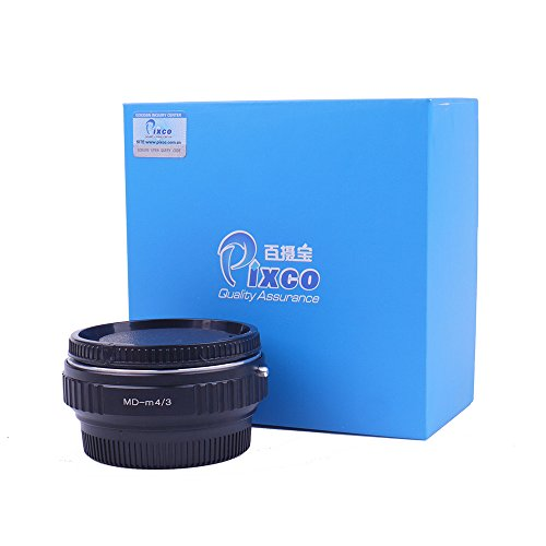 Pixco Pro Speed Booster Focal Reducer Suit for Minolta MD Lens to Micro Four Thirds 4/3 Micro 4/3 M43 Camera Lens Adapter