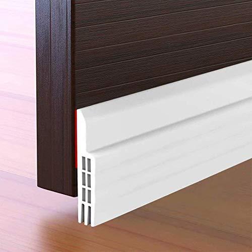 Suptikes Door Draft Stopper Under Door Seal for Exterior/Interior Doors, Door Sweep Strip Under Door Draft Blocker, Soundproof Door Bottom Weather Stripping, 2' W x 39' L, White