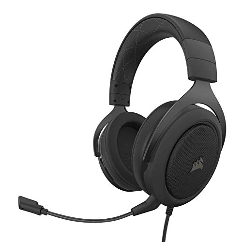 Corsair HS60 PRO - 7.1 Virtual Surround Sound Gaming Headset with USB DAC - Works with PC, Xbox Series X, Xbox Series S, Xbox One, PS5, PS4, and Nintendo Switch - Carbon (CA-9011213-NA)