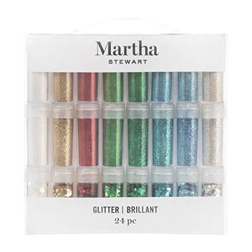 Martha Stewart Mixed Texture Glitter, 24 pack