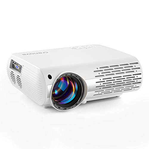crenova Video Projector for Outdoor Movie, 6800 Lux Full HD Home Movie Projector, 200' Display LED Projector 1080P Supported, Home Theater Projector Compatible with TV Stick, PS4, Phone, Laptop