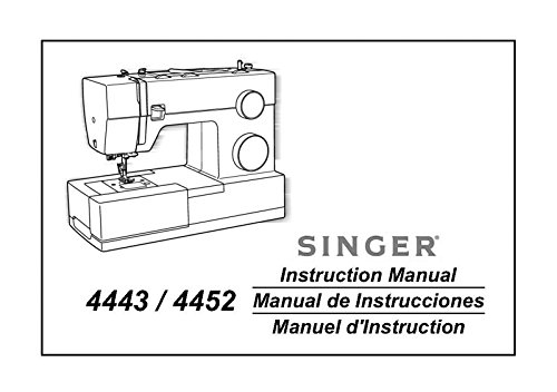 Singer 4443-4452 Sewing Machine/Embroidery/Serger Owners Manual [Plastic Comb]