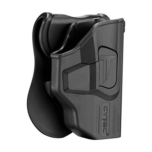 Glock 43 Holster OWB, Outside The Waistband Concealed Carry Paddle Holster Fit Glock 43, Tactical Polymer Pistol Gun Holster Gen3 with 360° Adjustable-RH