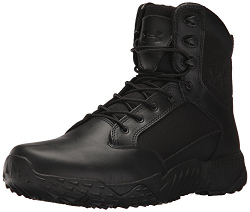 Under Armour Men's Stellar Tac Side Zip Military and Tactical Boot, Black (001)/Black, 10.5