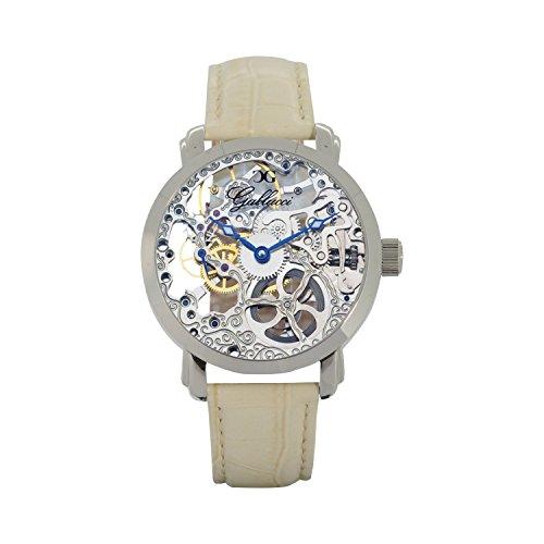 Gallucci Women's Fashion Skeleton Mechanical Watch