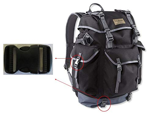 Ponini 1x 1 Black Replacement Chest, Waist, Side Clip Buckle Compatible with L.L.Bean Outdoor Backpacks