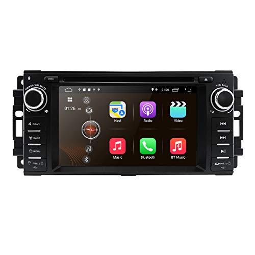 Android 10 Car Stereo CD DVD Player - in Dash Car Radio Multimedia Player Navigation System with 6.2' LCD Bluetooth WiFi GPS for Jeep Wrangler Dodge Chrysler