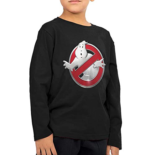 BilliePhillips Kids The Real Ghostbusters 2-6T Boy Girl Long Sleeve Tshirts 5/6T Black