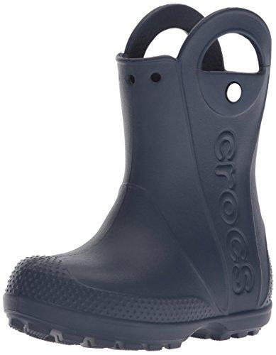 Crocs Kids' Handle It Rain Boots, Navy, 8 US Unisex Toddler