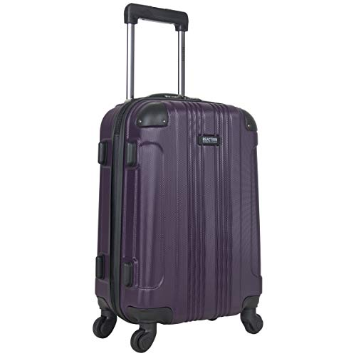 Kenneth Cole Reaction Out Of Bounds 20-Inch Carry-On Lightweight Durable Hardshell 4-Wheel Spinner Cabin Size Luggage, Deep Purple